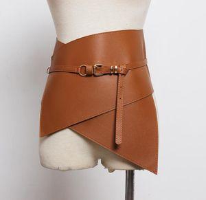 Women's runway fashion pu leather elastic Cummerbunds female Dress coat Corsets Waistband Belts decoration wide belt R1776 1012