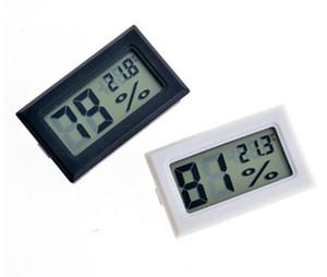 Preto / Branco Mini Digital Ambiente LCD Termômetro Higrômetro Medidor de Temperatura de Umidade no Quarto Geladeira IceBox Frete Grátis