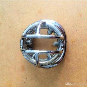 Новое кольцо Дизайн и пояса для мужчин с стальным Cock Cage а ВИНТЫ Devices Пенис Уникальный гаечный ключ нержавеющей Локка 6шт Целомудрие Целомудрие Мужской Cock Rlrt