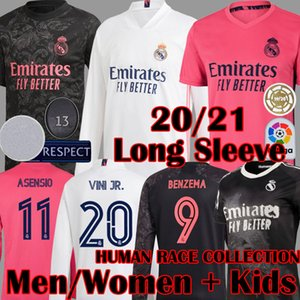 2020 2021 New Real Madrid manches longues race humaine COLLECT Football Maillots SERGIO RAMOS ASENSIO MARCELO VALVERDE femmes Maillot de football pour enfants Kits