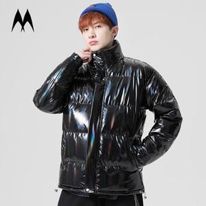 Glossy White anatra Down Jacket Men 2020 Nuovo Inverno giù ricopre Mens caldo Giubbotto imbottito Streetwear di modo maschio tuta sportiva del cappotto