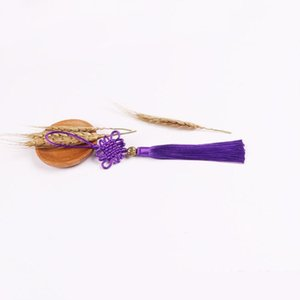 5 unids New Style Chinese Knot Tassel DIY Accesorios de Joyería de DIY Hogar Textil Material Ropa Costura Macrame Decoración Colgante H Qyltio