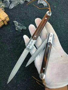 Özel Offerveg10 Şam Çelik Bıçak Bilyalı Rulman Flipper Katlanır Bıçak Gülağacı Paslanmaz Çelik Sac Kolu EDC Cep Bıçaklar