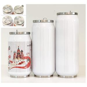 12Oz Sublimation Cola Can DIY 350 ml Wasserflasche in Masse doppelwandige Edelstahl-Cola-Form-Tumbler isoliertes Vakuum mit 149 k2