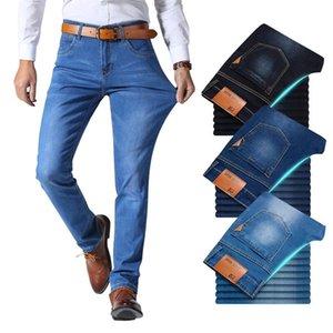 Brother Wang Classic Style Hommes Brand Jeans Entreprise Casual Stretch Slim Denim Pantalon Bleu Black Pantalons Homme 201223