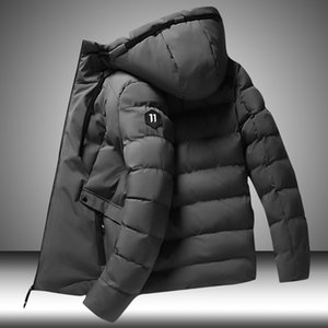 Winter 2020 New Men Parkas Solid Color Thick Jacket Mens Casual Warm Windproof Outwear Zipper Coat Male Cotton-Padded Clothing