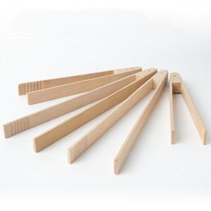 Деревянные зажимы хлеба хлеб Щипы бука деревянные десертные печенья клип зажимные щипцы многофункциональные приготовления зажима домашнее средство для выпечки DHF2779