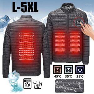 Coat Waterproof USB Heated Coat Electric Vest Heated Pocket Temperature Ajustable Zipper Skiing Heating Jacket Washable1