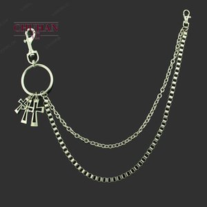 CHUHAN European and American Hip-hop Punk Metal Trouser Chain Is Versatile Casual Men's Clothing Waist Chain Key Chains C134