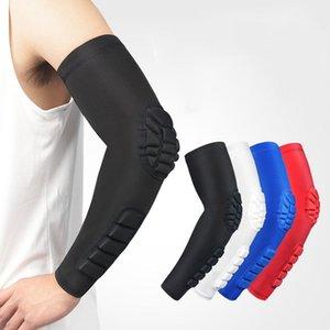 Protetor engrenagem esportes esportes acessórios cotovelo joelho almofadas honeycomb joelheira almofada basquetebol acidente anti-deslizamento perna manga longa