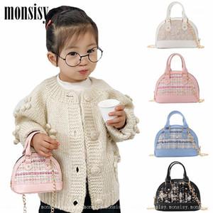 Monsisy New Shell Bag For 2020 Women Girl Purse and Handbag Children' Woolen Shoulder Bag Shiny Tote Gift Ladies Kid Evening1