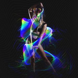 프로그래머블 LED 광섬유 채찍 70inch 360 ° 회전 - 슈퍼 밝은 빛까지 레이브 장난감 EDM 픽셀 흐름 레이스 댄스 축제