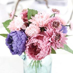 Saideke Exquisite Искусственный пион цветок моделирования цветок свадебный букет из георгина свадебные букеты украшения дома