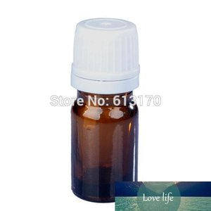 50pcs 5ML Amber Glass bottles,Essential Oil Bottle White screw Tamper Proof cap Juice Serum container 5CC small Sample Vial