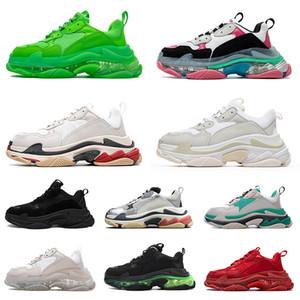 أحذية Balenciaga triple s designer sneakers paris 17FW الرجال النساء عارضة أحذية أبي خمر منصة أحذية رياضية أبيض  أسود الكماليات تنس شقة المدربين الركض المشي