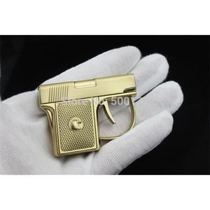Neue Ankunft Freies Verschiffen Mini Neuheit Metallpistole Winddicht Fackel Zigarette Zigarrenpistole Feuerzeug mit Kasten