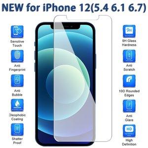 شاشة حامي لiPhone12 11 برو ماكس XS ماكس XR الزجاج المقسى آيفون 7 8 زائد هواوي P40 فيلم حامي 0.33mm مع صندوق ورق