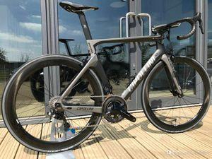 NK1K Karbon Yol Komple Bisiklet Şerit Cipollini NK1K DI2 Karbon Bisiklet 50mm Karbon Yolu Jeelset 2018