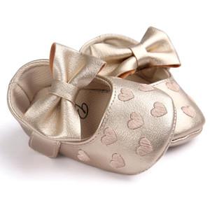 TELOTUNY baby girl shoes Bowknot Anti-slip Soft Sole newborn shoes A802 14