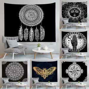 Mandala Tapestry Hippie Wall Hanging Flower Digital Impresso Bohemia Colcha Praia Mat Toalha Yoga Mat Blanket EWC1522