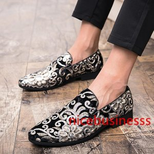 New Fashion Men Party and Wedding Handmade Loafers italian Men's Dress Shoes Comfortable Breathable Men