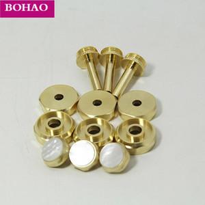 Trumpet Repair parts Top valve cap  Finger Button Stem Bottom Valve cap White shell