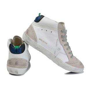 Itália Marca Multicolor Heel Ouro Superstar Gooses Designer Sneakers Homens Mulheres clássica Branca Do-velho sujo Shoes Casual Shoes Tamanho US5-11