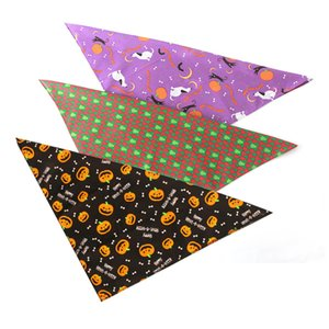 48*48*70CM 25-48CM Circumference Cotton Bandanas Scarf for Dog Pets Bandana Halloween Christmas New Year Dress Halloween Doggy Dogs Scarves
