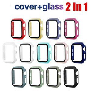 Uhrgehäuse für Apple UhrWatch i-Abdeckung mit Glas Ausgeglichenes Film-Schutz-Wearable Smart-Zubehör