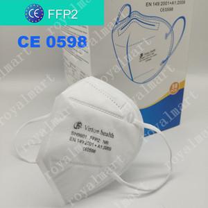 FFP2 CE CE CERTIFICAT MASQUE KN95 DESIGNER MASQUE DE FACE N95 Respirateur Filtre anti-brouillard et grippe anti-poussière