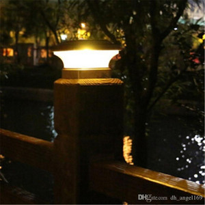 Hot Solar Fence lamp Landscape Light Garden post cap lamp 28LEDs Outdoor Waterproof Path Deck Square Decor Night Lamp Free DHL