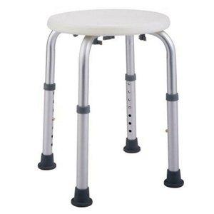 New Medical Cadeira de chuveiro altura ajustável Banheira Bench Stool Assento rodada