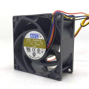 8038 12V de 4 hilos PWM de control de temperatura de la CPU de gran volumen de aire del ventilador DA08038B12H 8cm servidor 0.85A