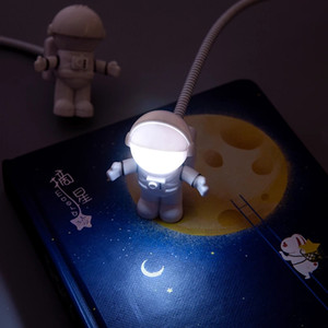 Flexible USB White Astronaut Tube Portable LED Night Light DC 5V Bulb For Computer Laptop PC Notebook Reading Home Decoration GWF4160