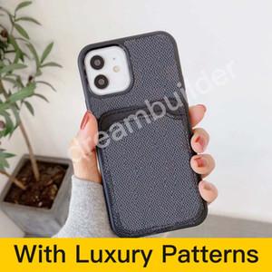 أزياء الحالات الهاتف لآيفون 12 برو ماكس 11 7 8 زائد X XR XS ماكس مع غطاء بطاقة رجيلة لسامسونج غالاكسي S10P S20 S20U NOTE 10 20 U