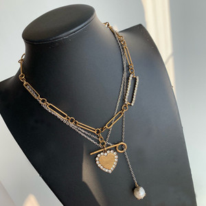 Fashion love chain necklace for women Party lovers gift hip hop jewelry With BOX