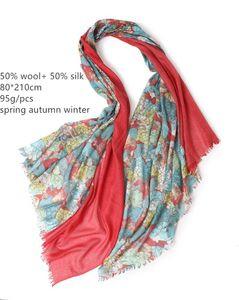 Шарверы Naizaiga 50% шерсть шерстяные женские печать мода шарф женские женские WAM шаль, SN533