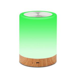 Lâmpada de mesa LED ajustável lâmpada de cabeceira inteligente amizade criativo madeira grão mesa luz bedside lampe cama luzes ewd2373
