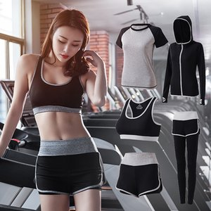 Europe and the United States 2020 fitness suit running quick-drying clothes sweat-absorbent breathable high waist sports yoga suit female