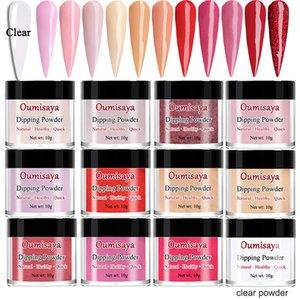 En gros acrylique ongles trempage poudre 12 couleurs ensemble xs1201 y compris scintille scintillante rouge, rose, couleurs brunes nues