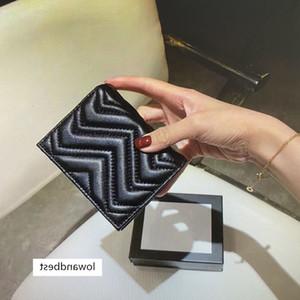 حامل أعلى محفظة بطاقة حالة marmont عملة النساء محفظة جلدية الحقيبة مبطن جودة مصغرة محافظ الائتمان الرئيسية بطاقة قصيرة 466492 مخلب bmwoj