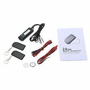 2.4 GHz Car Anti Theft Alarm Segurança Kit Car Immobilizer Circuit Cut Automobile Parts EUdV #
