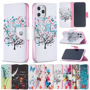 Printing Flower Patterns Wallel Flip PU Leather Protector Phone Case For iphone 5G 6G 7G Plus X XS XR 11 Pro 12 Mini Max