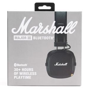 Marshall الرئيسية سماعات بلوتوث لاسلكية خوذة الصوت على سماعات الأذن اللاسلكية - أسود