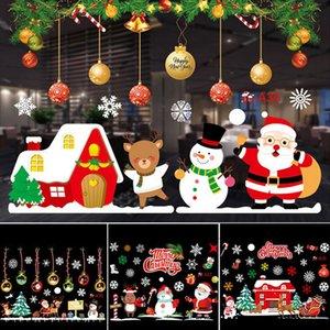 Feliz Qifu Decorações de Natal do Windows Etiqueta Pendant grinalda Snowman Elk Papai Noel de Natal 2020 Natal feliz presente de Ano Novo