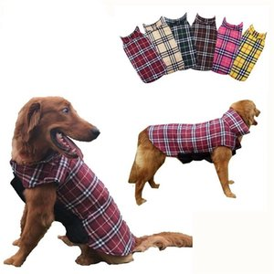 Plaid Jacket Garment Waterproof Wear Pet Dog Clothes Lovely Warm Fashion Accessories Loose Coat Autumn Outdoors 36 5bl K2