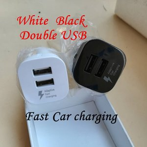 Fast charger dual usb car charger auto power adapter for samsung galaxy s6 s7 edge s8 s10 note 8 10 htc android phone pc mp3