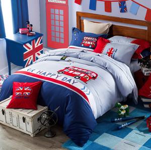 100% reiner Baumwolle Kinder Bettwäsche-Set mit einem Bettbezug ein Blatt Zwei Kissenbezüge für Jungen und Mädchen