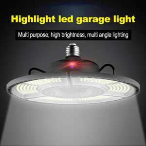 wholesale E27 LED Deformable Folding Garage Lamp Super Bright Industrial Lighting 60W 80W 100W UFO High Bay Industrial Lamp for Warehouse