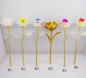 24K 금박 도금 로즈 크리 에이 티브 연인의 결혼식 크리스마스 장식 발렌타인 전자의 날 선물을 위해 영원히 장미 꽃을 지속 GGA3768-1